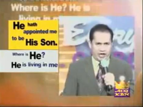 Quiboloy claiming to be the Son of God.